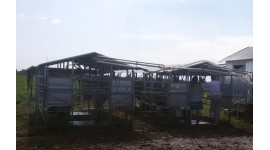 Mobile milking parlour system for 100-200 cows