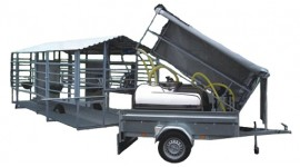 Mobile milking parlour system for up to 50 cows milking to S/S milk tank
