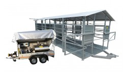 Mobile milking parlour system for up to 50 cows